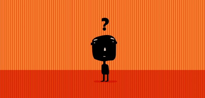 man with question mark over his head