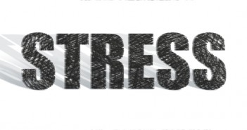 Black and white word STRESS in capitals