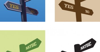 Gaining Support for Training: Signposts showing Yes No Maybe