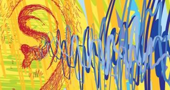 Art of Listening: ear with ear wave