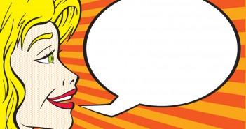 Speak up: cartoon speech bubble