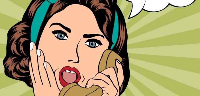 No Problem: woman talking o the phone