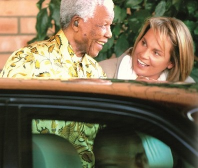 Photograph of Zelda La Grange with Nelson Mandela
