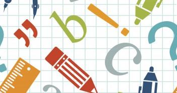 Vector seamless school pattern