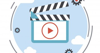 Video flat vector icon