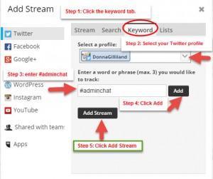 Figure 2 Add Stream Dialog box steps