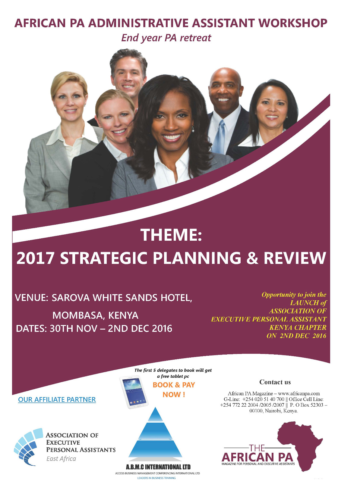 african pa administrative assistant workshop