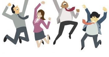 Love Being An Assistant: People jumping for joy