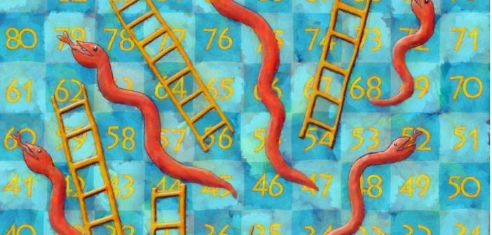 picture of snakes and ladders board game