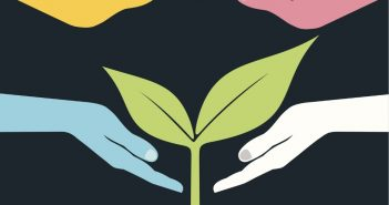 Intoku: hands hovering over plant growing