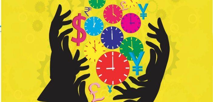 Merging PowerPoint Presentations: clocks depicting using time