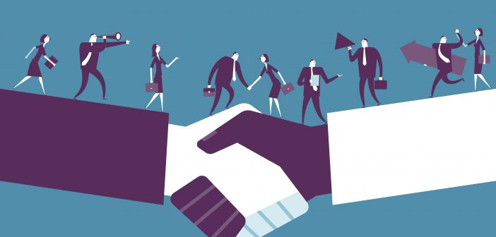 handshake: moving into management