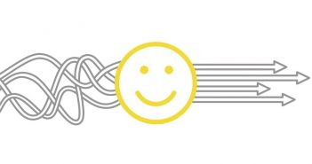 Smiley face depicting happiness at work