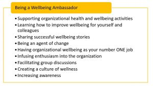 attributes of a wellbeing ambassador
