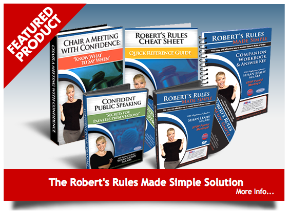 DVD: Robert's Rules Made Simple
