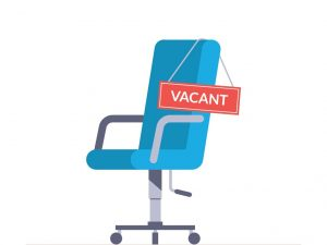 office chair with vacant chair