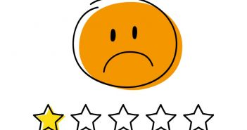 one star showing negative feedback