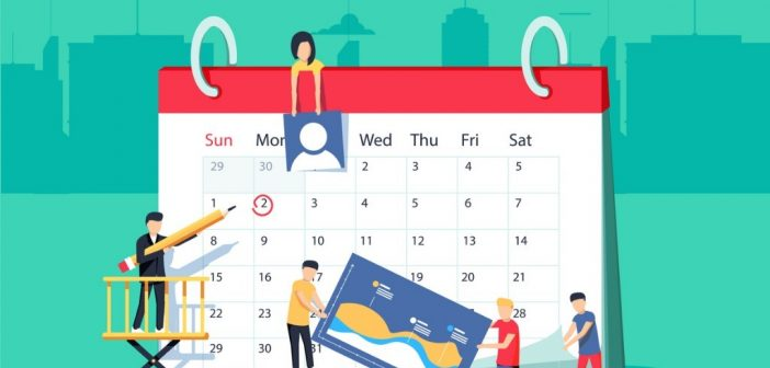 calendar for planning an event