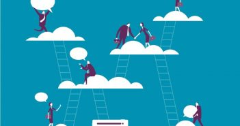 Climbing ladders to clouds