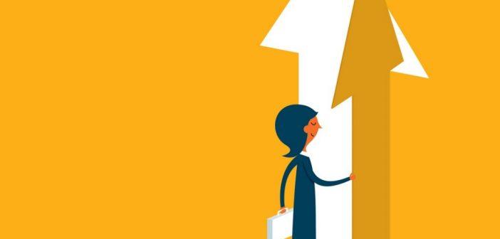 expanding your role - walking through arrow shaped door