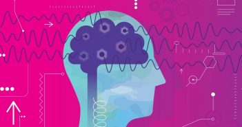 Motivation - design showing brain and brainwaves