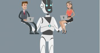 Future-Proof Your Career: robot carrying man and woman typing