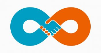 Force Multiply: infinity symbol as a handshake