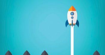 Bravery: rocket ship taking off