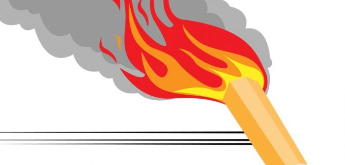 What is Speedwriting: pencil on fire, moving fast