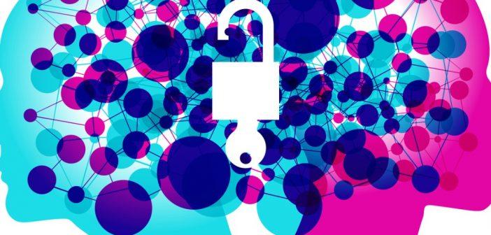 Personal development: open lock on mind