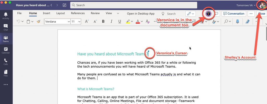 Collaborating on Documents in Microsoft Teams