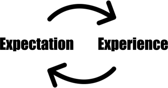 expectation - experience loop