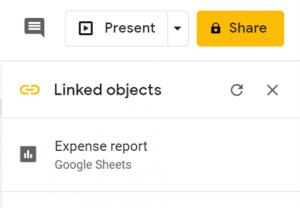 Google workspace linked objects